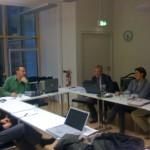 Besprechung in der Uni Freiburg