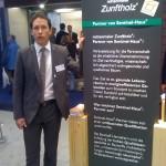 Matthias Lange am Rettenmeier (Zunftholz) Messestand