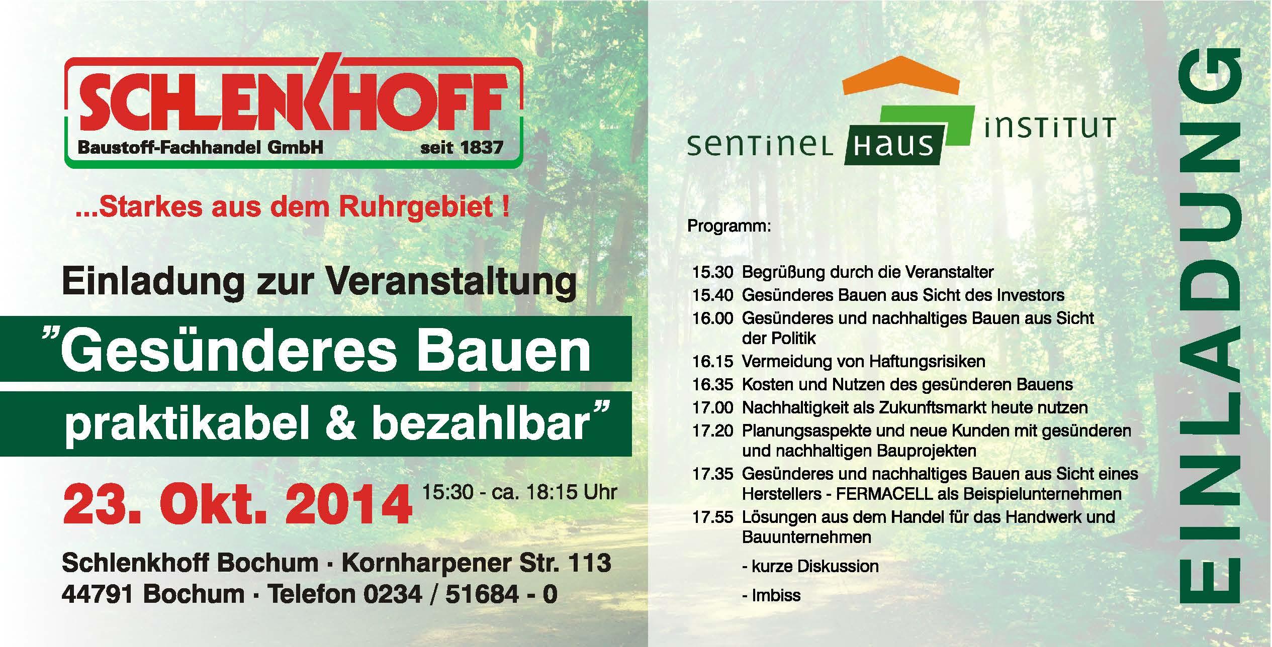 Häuser Bau Bochum vortrag sentinel haus part 2