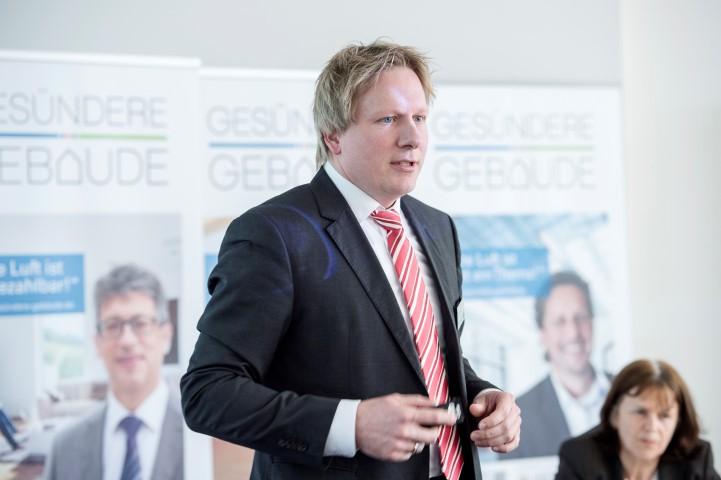 Steffen Mechter, Leiter Strategische Geschäftsentwicklung Sparte Baustoffe bei der BayWa AG. Foto: Roeder / SHI-TÜV R